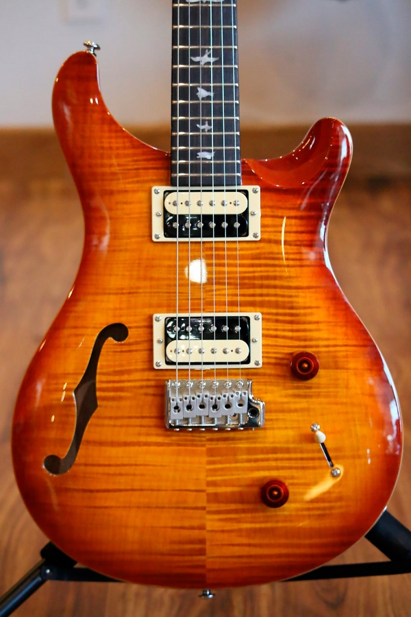 100469:VS PRS SE Custom 22 Semi-Hollow 2019 Vintage Sunburst