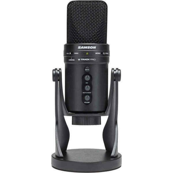 SAGM1UPRO Microphone with Built-In Audio Interface (Black)
